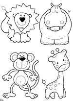coloring pages of animals 2