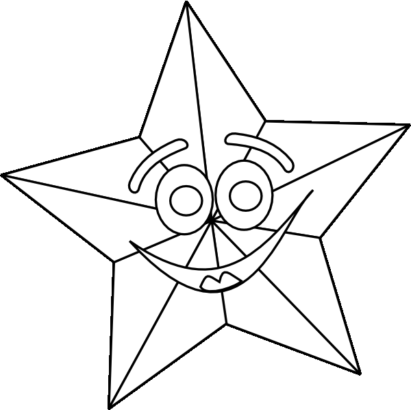Star Outline Coloring Pages