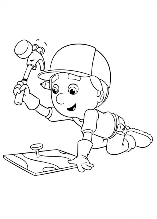 Manny Garcia Handy Manny Coloring Page - Download & Print Online ... | 754x539