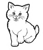 kitty coloring pages 2