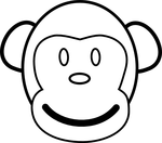monkey coloring pages for kids 4