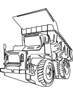 truck coloring pages 9